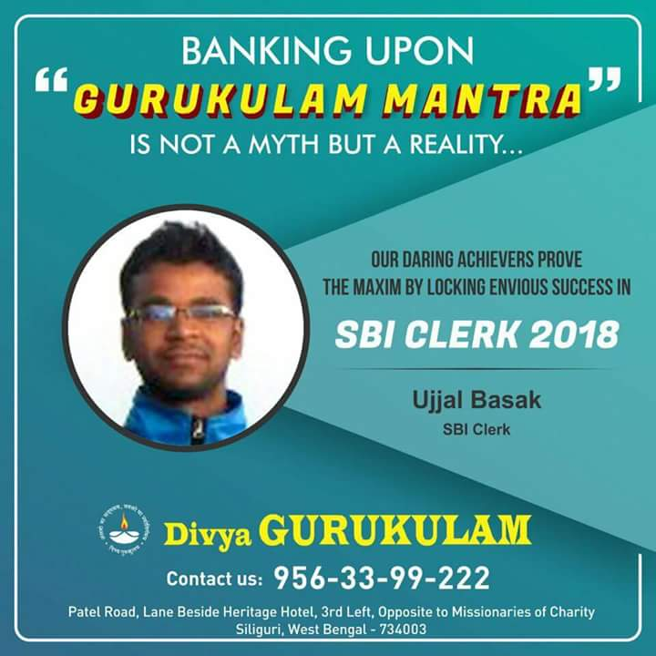 Divya Gurukulam SBI-CLERK 2018  Success